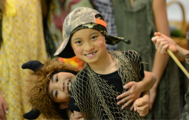 Students rehearse for a dance and theater performance of Peter Pan