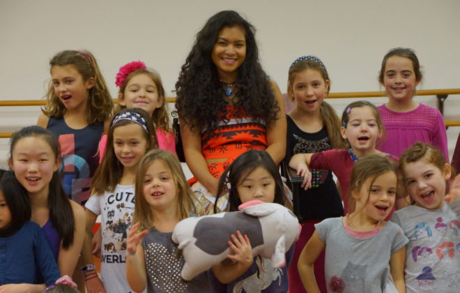 Moana visits our winter break campers.